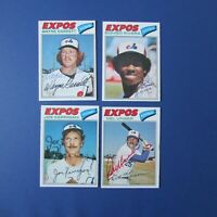 MONTREAL EXPOS 1977 O-Pee-Chee (21 diff) OPC Signed Autographed AUTO  team set