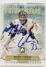 MAXIME CLERMONT OLYMPIQUES AUTOGRAPH AUTO 09/10 BETWEEN THE PIPES #54 *33723