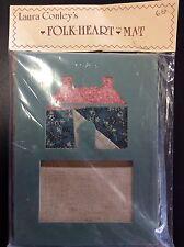 Needlepoint Frame Kit Laura Conleys Folk Heart Mat Antique Quilt Wall Hanging