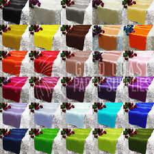 PARTY DECORATIONS SATIN FABRIC TABLE RUNNER WEDDING BIRTHDAY ENGAGEMENT