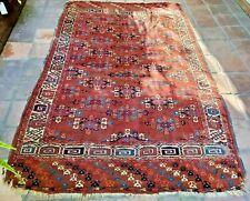 Stunning Very Rare Antique Yamut Turkoman Red Carpet - 9x5