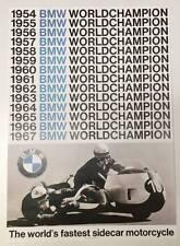 BMW Vintage Motorcycle Poster - 1954-1967 World Champion Sidecar RARE bike