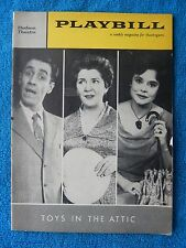 Toys In The Attic - Hudson Theatre Playbill - March 28th, 1960 - Jason Robards