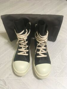 Rick Owens Ramones Leather High Sneakers 16SS