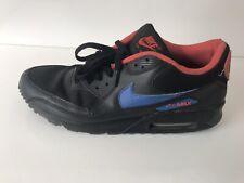 separation shoes 44ee7 4a27d Nike Air Max 90 Nero Blu Cremisi VINTAGE COPPIA Uomini Scarpe Da Ginnastica  UK 10
