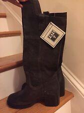 Frye Autumn Shield Tall Chocolate Brown Boot Size 8 NIB $398 Retail
