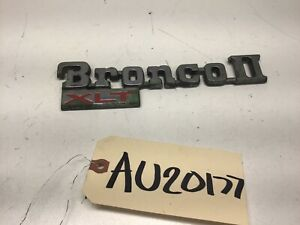 1984-1990 FORD BRONCO II XLT EMBLEM BADGE