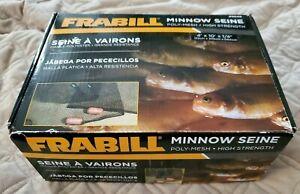 FRABILL 2156 4' X 10' X 1/4 INCH MINNOW SEINE POLY MESH NET BRAND NEW IN BOX