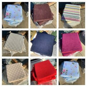 Garden chair / dining chair  tie on tapered seat pads various colours UK made