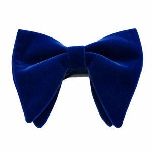 Men Solid Velvet Oversized Big Bow Tie Wedding Party Tuxedo Business Bow Tie