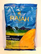 Rajah haldi terreno cúrcuma 400g (100% Puro Sin colores artificiales o aditivos)