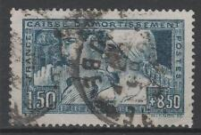 """FRANCE STAMP TIMBRE 252c """" LE TRAVAIL BLEU VERT TYPE III """" OBLITERE TB RARE N851"""