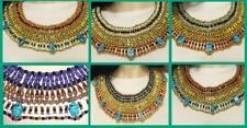 Egyptian Egypt Cleopatra Scarabs Beaded Necklace Halloween Costume