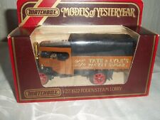 MATCHBOX MODELS OF YESTERYEAR Y-27/1922 FODEN STEAM LORRY TATE & LYLE'S SUGAR