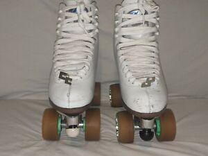 Vintage Dominion Canada Roller Skates Sure Grip Plates Powell Bones Wheels Sz 10
