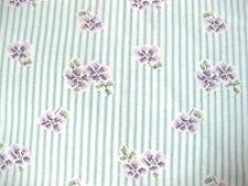 "Vintage Cotton Fabric Feedsack Purple Flowers Feed Sack, 36"" x 49"" Flaw  #cc"