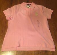 Polo Ralph Lauren Pink Skinny Fit Big Pony Polo Shirt Women's XL NWT!