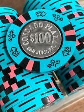 100 $100 Condado Plaza Casino San Juan Puerto Rico Bud Jones Coin Inlay CIC Teal