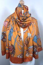 Designer Inspired Scarf Pashmina Orange Burnt Orange Oversized Silky Soft NEW