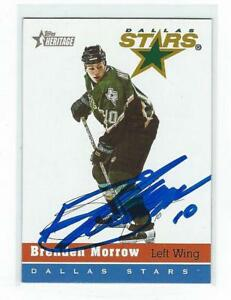 Brenden Morrow Signed 2000/01 Topps Heritage Card #116