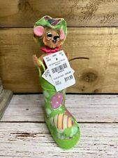 New listing Annalee 3 inch garden boot mouse ~ 200417
