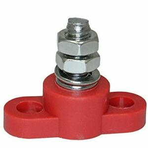 Positive Insulated Battery Power Junction Post Block 3/8 Lug X 16 thread (Red)