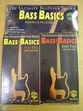 Warner Bros. Bass Basics Instructional Vhs Videos With Cd & Book