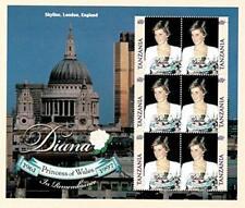 VINTAGE CLASSICS - Tanzania 9816 Princess Diana - Set Of 6 Stamps - MNH