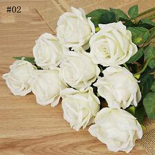 12Colors Artificial Fake Silk Rose Flowers Bridal Wedding Home Pretty Decor