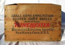 """Vintage Winchester Ammunition Wood Box Antique 1939 Wooden Ammo Shell Case 14.5"""""""