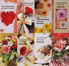 100 Glückwunschkarten zum Geburtstag Blumen 993 Geburtstagskarte Grußkarte
