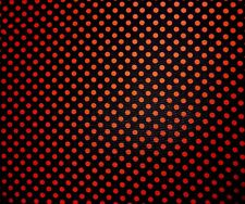 "Black & Red Polka Dot Polyester Drapey Fabric By the Metre 60"" wide FREE P&P"