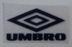 Navy Blue Retro Umbro diamond logo straight corners Press on football shirt