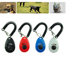 Dog Whistle Ultrasonic Training Clicker Pet Puppy Cat Trainer Click Lanyard E8S0