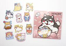Japanese Shiba Inu sticker flakes! Kawaii emoticons, cute planner stickers, dog