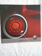 Alfa Romeo price list brochure Apr 2010