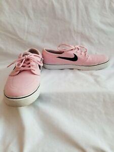 NIKE SB Zoom Stefan Janoski Pink Canvas Unisex Shoes Size 7 Youth