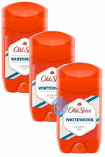 3 X OLD SPICE DEODORANT STICK WHITEWATER 50ML. GREAT VALUE, UK SELLER!!