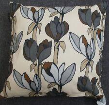 Linum Kissen Kissenhülle  Cesena S grau braun Blüten 50x50 cm  40x40 cm
