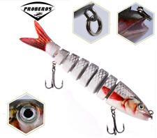 "5.3"" Multi Jointed Fishing Lure Bait Bass Crank Minnow Swimbait Life Like Pike"