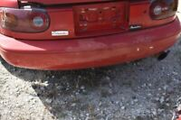 1990-1997 MAZDA MX-5 MIATA 1.8 NA RED REAR BUMPER ASSEMBLY