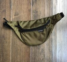 Vintage East Sport Nylon Military Green 3 Pocket Fanny Cross Body Bag