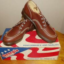 VTG MENS GEORGIA #6520 MADE USA WORK SHOCK ABSORB SOLES SHOES NEW IN BOX NIB