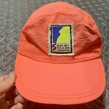 Vintage 90's Umbro Soccer Sand 5 Panel Hat Long Bill Neon Adjustable Nylon RARE