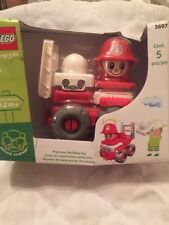 Rare Retired 2003 Lego Explore FireMan & Car 36987 5 Pcs Set Factory Sealed