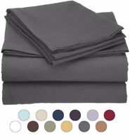 Twin Size Microfiber 3 Piece Bed Sheet Set - Fits Deep Pocket Mattresses