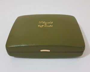 Vintage green Studs & Cufflinks empty Box