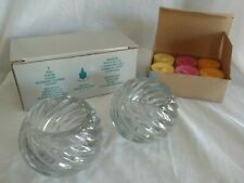 Partylite Illusions Glass Candle Holders P0463 plus Happy Hour Tealights P95544