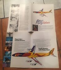 2 x Alexander Calder 4 page Brochure for Braniff Flying Colors of South America