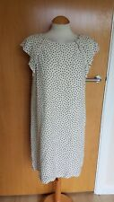 ladies ZARA ivory spotted dres size L 12 14 shift tunic